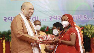 Laddu Vitaran Yojana Launched in Gujarat's Gandhinagar by Amit Shah to Save Pregnant Women From Malnutrition