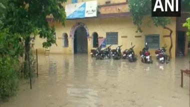 India News   Rajasthan: Rainwater Enters Chhipabarod Police Station After Heavy Downpour