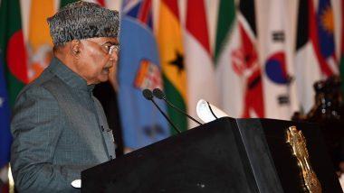President Ram Nath Kovind Addresses Student Officers of 77th Staff Course