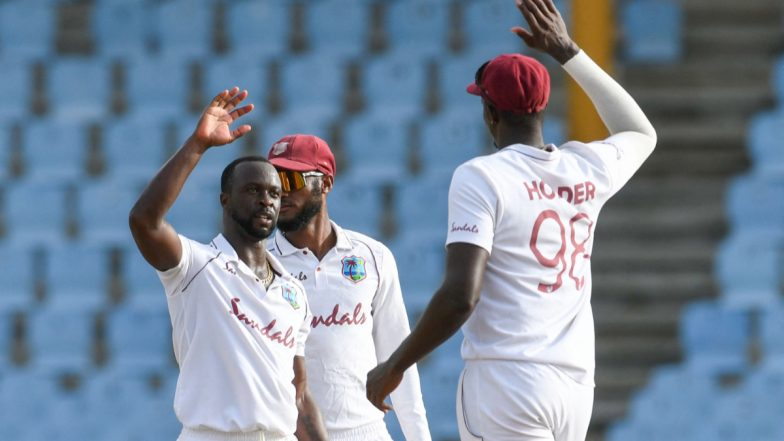 Pakistan vs West Indies 1st Test, Day 2 Live Streaming Online on FanCode: Get PAK vs WI Cricket Match Free TV Channel and Live Telecast Details On PTV Sports | 🏏 LatestLY
