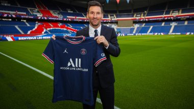 Lionel Messi In Psg Jersey Images Hd Wallpapers For Free Download Online For All Paris Saint Germain Fans For 2021 22 Football Season Latestly