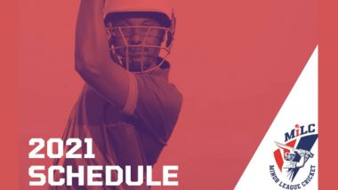 Minor League Cricket USA T20 2021 Schedule and Time Table