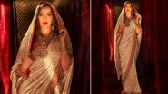 Hariyali Teej 2021 Celeb-Inspired Look: Nora Fatehi in Gorgeous Studded Saree Is All The Inspiration You Need This Festive Season