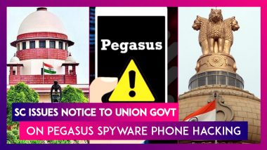 Supreme Court Issues Notice To Union Govt On Pegasus Spyware Phone Hacking