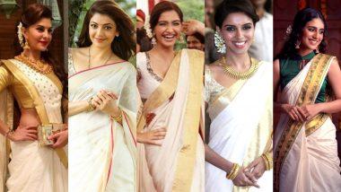 Onam 2021 Celebrity Style Guide: Dress Up Like Asin, Sonam Kapoor, Priya Prakash Varrier and Others To Look Your Festive Best