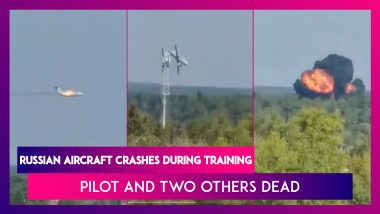 Russian Aircraft Crashes During Training, Pilot And Two Others Dead