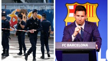 Lionel Messi in Paris? PSG Fans Turn Out in Huge Numbers to 'Welcome' Argentine Footballer at Le Bourget Airport (Watch Video)