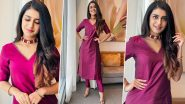 Priya Prakash Varrier Gives Raksha Bandhan Style Inspiration as She Poses In a Gorgeous A-Line Kurta Set; See Photos