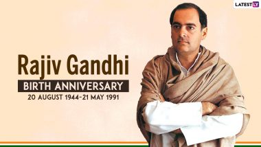 Rajiv Gandhi 77th Birth Anniversary: Here Are Interesting Facts About The Former Prime Minister Of India On Sadbhavana Diwas 2021