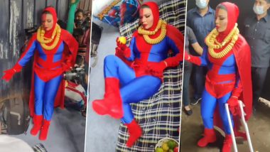 Bigg Boss OTT: Rakhi Sawant Turns Into Spiderwoman, Demands the Makers To Let Her Enter the Show (Watch Video)
