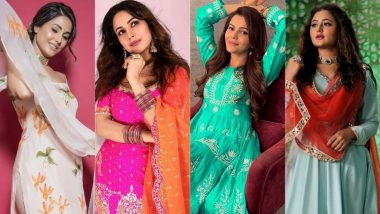 Raksha Bandhan 2021 Celebrity Style Guide: Hina Khan, Shehnaaz Gill, Rubina Dilaik, & Other Bigg Boss Stars' Salwar-Suit Looks Are Perfect for Rakhi Festival