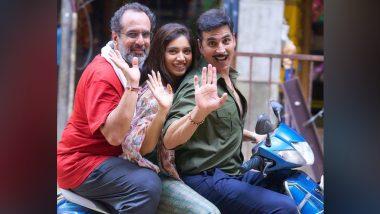 Raksha Bandhan: Akshay Kumar Shares Pics With Bhumi Pednekar and Aanand L Rai As He Wraps Up Mumbai Schedule of the Flick!