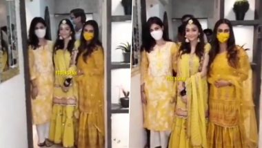 Rhea Chakraborty Spotted at Rumi Jaffery's Daughter's Mehendi Ceremony (Watch Video)