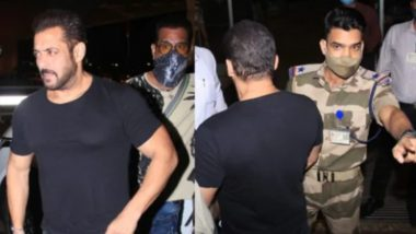 Salman Khan Gets Stopped at the Airport by a CISF Officer; Netizens Hail the 'Power of Uniform' (Watch Video)