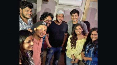 Salman Khan Meets Indian Idol 12 Winner Pawandeep Rajan and Other Contestants at Mahesh Manjrekar's Birthday Bash (View Pics)