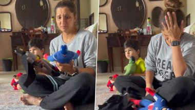 Sania Mirza Is Going Bonkers Over Her Son Izhaan Mirza Malik's Obsession for Superhero Toys, Shares Super Cute Instagram Reel