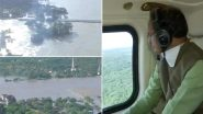 Madhya Pradesh Rains: CM Shivraj Singh Chouhan Takes Stock of Two Collapsed Bridges on Datia-Gwalior Road (Watch Video)