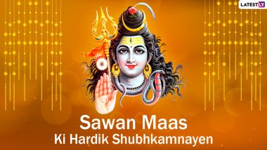 Sawan Somvar 2021 Messages in Hindi: WhatsApp Greetings, HD Images, Har Har Mahadev Wallpapers and SMS to Send to Family and Friends