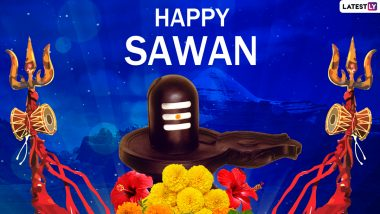 Happy Sawan Somwar 2021 Wishes & HD Images: Celebrate Start of Shravan Maas in Maharashtra With WhatsApp Messages, Greetings, SMS, Facebook Status and Photos