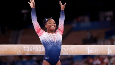 Simone Biles Wins Bronze Medal in Women's Balance Beam Final for USA at Tokyo Olympics 2020