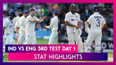 IND vs ENG 3rd Test Day 1 Stat Highlights: Bowlers Shine For England