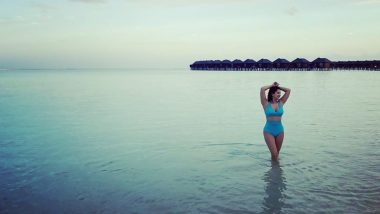 Sunny Leone Jets Off to Maldives for a Vacation, Shares a Stunning Picture in a Blue Bikini