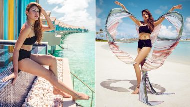 Surbhi Chandna in a Black Two-Piece Swimsuit Compliments the Maldives for Looking Hot and Tempting (View Pics)