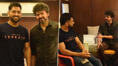 Thalapathy Vijay and MS Dhoni Catch Up Between Work; Pictures Go Viral on the Internet!