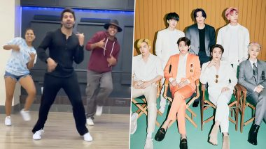 Varun Dhawan Takes Up K-Pop Band BTS' 'Permission To Dance' Challenge, Grooves to the Beats (Watch Video)