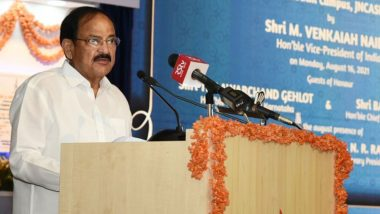 JNCASR Bengaluru: Scientists Should Come Up With Out-of-the-Box Solutions To Address Various Challenges Faced by Mankind, Says Vice President M Venkaiah Naidu