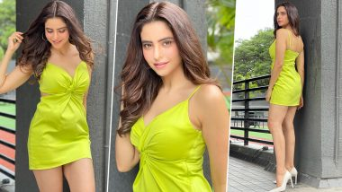 Aamna Sharif Radiates Positive Vibes With Stunning Pics In Lime Green Mini Dress; Says 'Follow Your Dreams, They Know The Way'