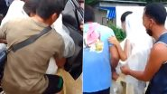 Thoughtful Wedding Guests Carry Bride On a Chair to The Church in Philippines Due to Flooded Road; Watch Video