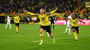 Erling Haaland's Last Minute Goal Against Hoffenheim Helps Borussia Dortmund Register 3-2 Win During Bundesliga 2021-22 Match (Watch Goal Highlights)