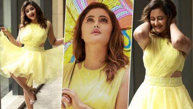 Rashami Desai Looks Breathtakingly Beautiful in a Yellow Flared Short Dress; See Stunning Photos