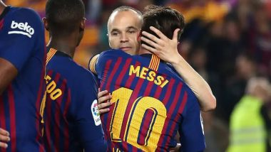 Andres Iniesta Opens Up About Lionel Messi's Sudden Transfer to PSG, Former Barcelona Midfielder Says, 'It Will Be Difficult To See Him in Another Shirt'