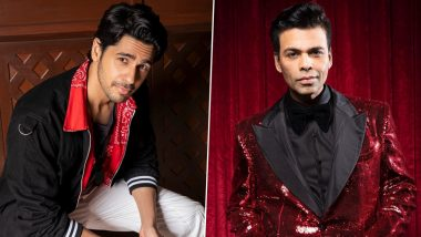 After Shershaah, Sidharth Malhotra and Karan Johar Once Again Team Up for an Aerial Actioner – Reports
