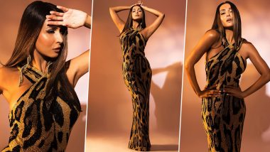 Malaika Arora Looks Glamorous In a Sexy Figure-Hugging Animal Print Gown, View Sizzling Snaps From Latest Photoshoot