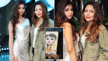 Gauri Khan and Daughter Suhana Khan Try Some 'Therapeutic' Charcoal Artwork