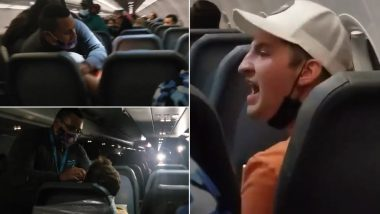Frontier Airlines Passenger Allegedly Gropes Flight Attendants' Breasts, Duct-Taped to Seat (Watch Shocking Video)