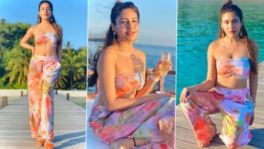Surbhi Chandna Amps Up The Glam Quotient In a Tie-Dye Co-Ord Set; Shares Stunning Pics From Maldives Vacay