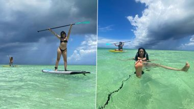 Camila Cabello Soaks Up The Sun While Paddle Boarding In a Skimpy Black Bikini; Says 'Nothing To Do Nowhere To Be'