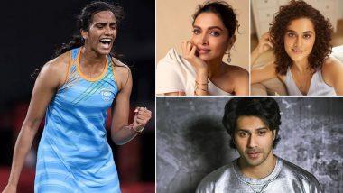 PV Sindhu Wins Bronze Medal at Tokyo Olympics 2020; Deepika Padukone, Taapsee Pannu, Varun Dhawan Cheer For Her Second Medal At Summer Games