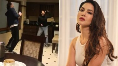 Sunny Leone Shares a Hilarious Video of Her Struggling To Kill a Flying Cockroach