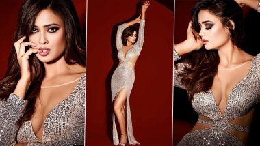 Shweta Tiwari Dazzles In Silver Sequin Bodycon Dress With Plunging Neckline, Shares Hot Pics From Latest Photoshoot
