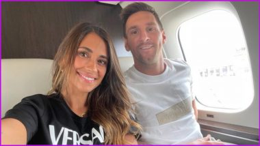 Lionel Messi Takes Flight to Paris With Wife Antonela Roccuzzo, Former Barcelona Star to Join PSG Formally