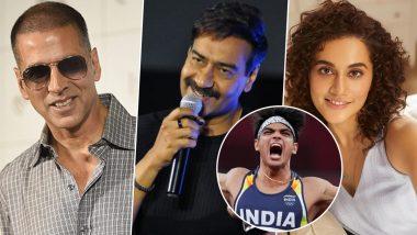 Neeraj Chopra Wins Gold at Tokyo Olympics 2020: Akshay Kumar, Ajay Devgn, Taapsee Pannu and Others Laud the Historic Win