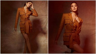 Kiara Advani Gives a Chic Twist to Her Rust Coloured Blazer Dress and We're Smitten (View Pics)