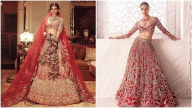 Fashion Faceoff: Kriti Sanon or Shraddha Kapoor, Whose Red Bridal Lehenga Had Your Attention? Vote Now