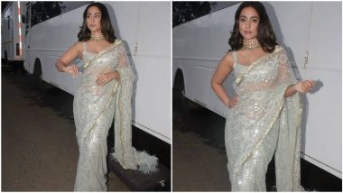 Hina Khan Just Made the Festive Season Brighter With Her Sparkly Sequined Saree (View Pics)
