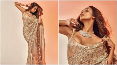 Malaika Arora Sizzles in an Iconic Manish Malhotra Sequined Saree and All We Can Say is 'Hot Damn!'